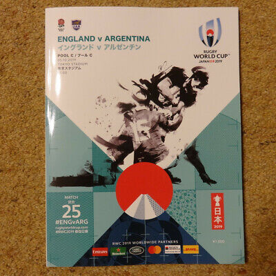 Official 2019 Rugby World Cup Programme England v Argentina Game 25 Tokyo Japan