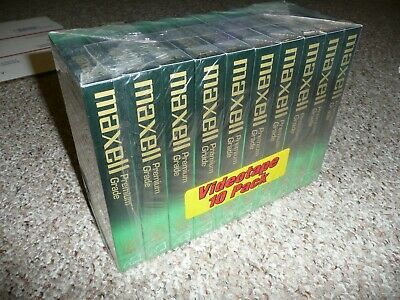 Maxwell Vhs Tapes Premium Grade T-160 10 Pack New Sealed