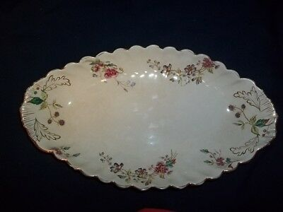 Antique Adderley Serving Platter With Flowers And Gold Trim