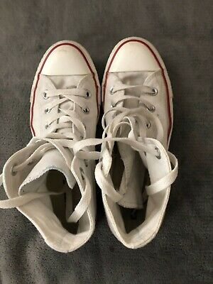 Converse Ladies White High Top Trainers size uk 6 eu 39 Girls and Women