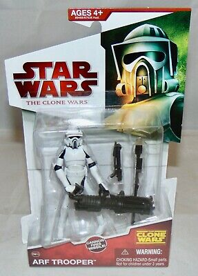 "New 2009 Hasbro Star Wars The Clone Wars 3.75"" ARF Trooper Action Figure Sealed"