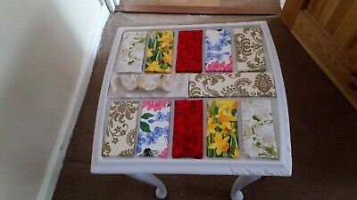wooden table small tiled topped shabby chic