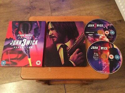 John Wick Chapter 3 Parabellum. 4K Ultra HD Blu ray. Steelbook. Rare. OOP.
