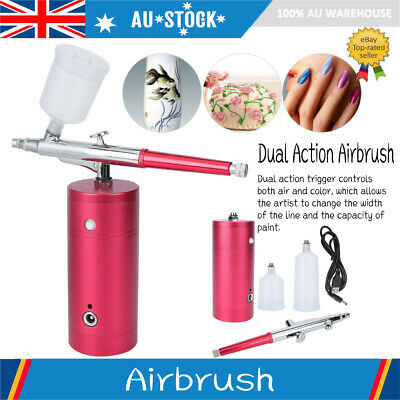 USB Dual Action Air Brush Airbrush Kit Spray Gun Compressor Paint Art Nail Art