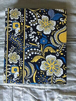 Vera Bradley Blue/Gold Foral Paisley Whimsical Address Book Unused Condition