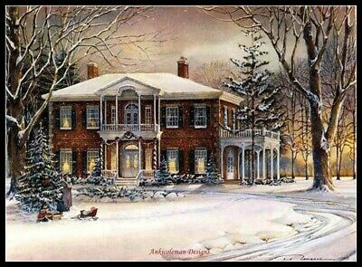 White Christmas - DIY DMC Counted Cross Stitch Patterns Needlework embroidery