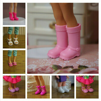 10 Pairs Shoes For Barbie Kelly Doll Boots Sandal Slipper Fashion Girl Play Gift