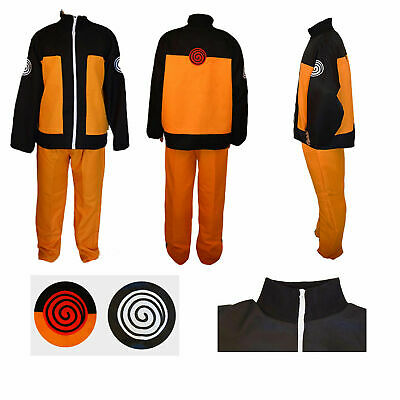 Naruto Shippuden Uzumaki Hokage Halloween Cosplay Costume Suit Jacket and Pants