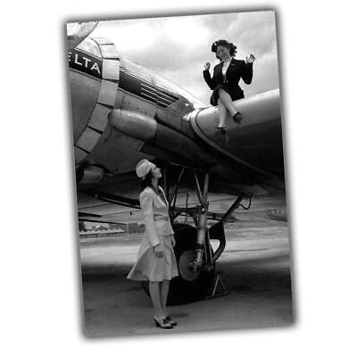 War Photo Style in the skies Aircraft Pin Up Girl Nice Woman WW2 4x6 O