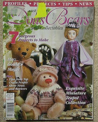 AUSTRALIAN DOLLS BEARS & COLLECTABLES Vol 9 No 8 Incl PATTERN SHEET