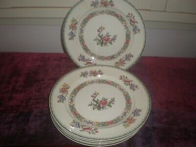 "6 x Booths T  Goode & Co London ""Brocade"" Silicon China Dinner Plates"