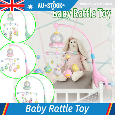 AU Baby Bed Bell Kids Crib Musical Mobile Cot Music Box Gift Baby Rattles Toy