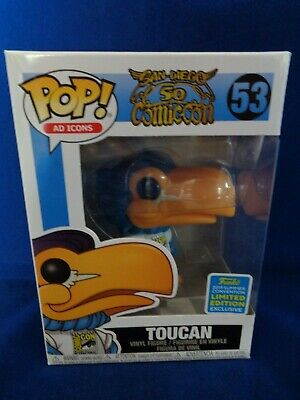 * 2019 SDCC Limited Edition Exclusive Funko Pop Ad Icons Toucan # 53,  BNIB!