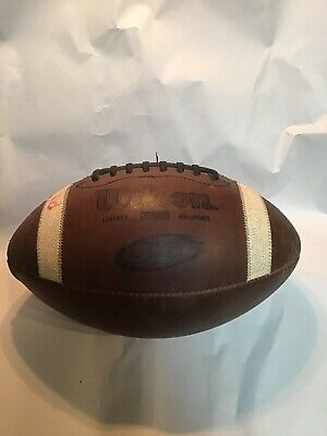 Vintage Game Used Wilson GST 1003 Leather Football (busted Seam On The End)