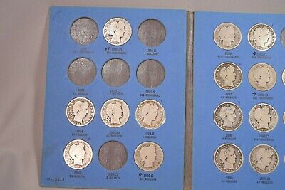 Old Time Collection of Barber Half Dollars 61 Different Pieces