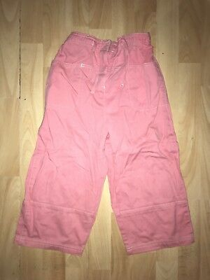 MINI BODEN Girls  8-9-10 y Pink Cotton Crop Capri Trousers Jeans SUMMER