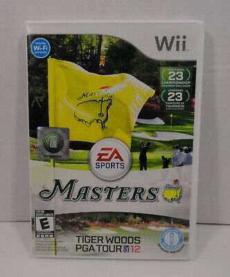 Tiger Woods PGA Tour 12: The Masters (Nintendo Wii, 2011) 2012 Complete! MINT!