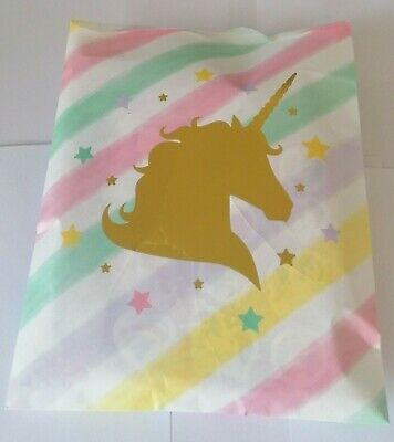 1 x UNICORN THEMED PRE FILLED KIDS GIRLS PARTY LOOT BAGS FOR BIRTHDAYS/OCCASIONS