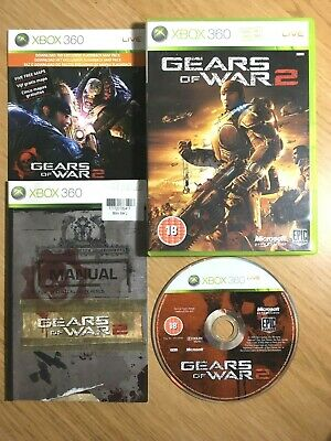 Gears of War 2 (Xbox 360) Complete with Manual & map - Fully Tested - PAL UK