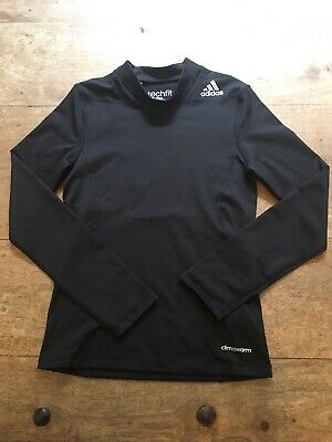 Boys Adidas Techfit Climawarm Base Layer Age 11-12 Years Long Sleeved Fitted