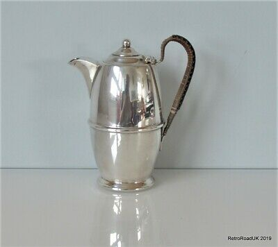 Antique Silver Plated Milk Jug, Reed Handle. Charls Fletcher, Sheffield