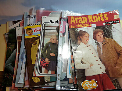 60 plus Vintage Knitting Patterns mainly from the 1960s & 1970s