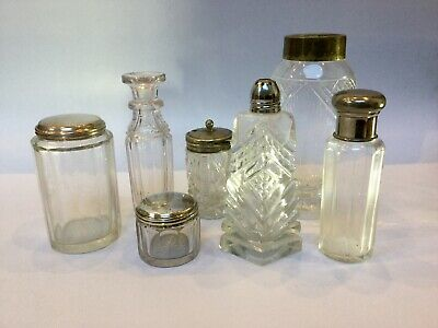 Antique Glass Vanity Pots And Desk Items Vanity Box Fittings
