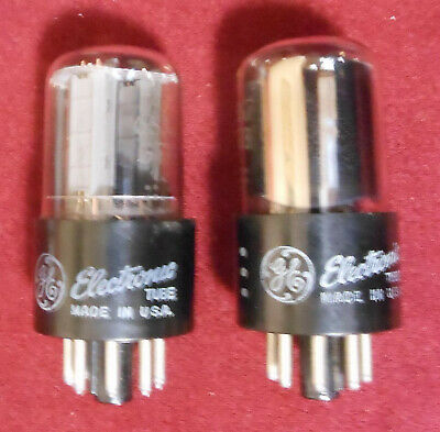 Valvole 6SN7gtb General Electric vacuum tubes