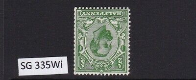 GB 1912 SG335Wi GEORGE V DOWNEY 1/2d GREEN DIE B INVERTED MNH UNMOUNTED MINT