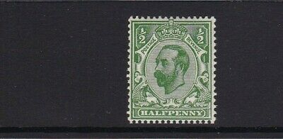 GB 1912 SG335 GEORGE V DOWNEY 1/2d GREEN DIE B CYPHER MNH UNMOUNTED MINT