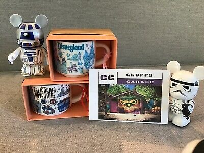 Disneyland & California Adventure Starbucks Been There Mug Ornament Set - 2 oz