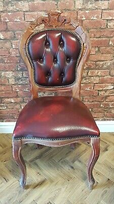 2 Louis xv Chesterfied style dining chairs