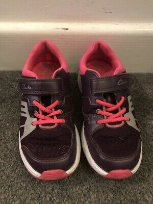 Clarks Girls Trainers Size UK 10.5 F Kids / EUR 28.5