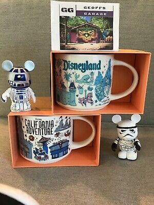 Starbucks Disneyland & California Adventure DCA BEEN THERE Mug Set + BONUSES