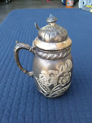 Middletown Plate Co Creamer 63 Quadruple Silver Plated Creamer Jug - Antique