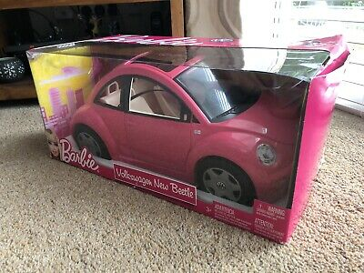 Barbie car pink VW beetle Mattel In Very Good Condition and With Original Box