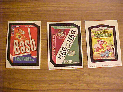 1980 Series 4 Wacky Packages LOT: 3 of 66 Sticker Trading Cards 202 221 233 Vtg