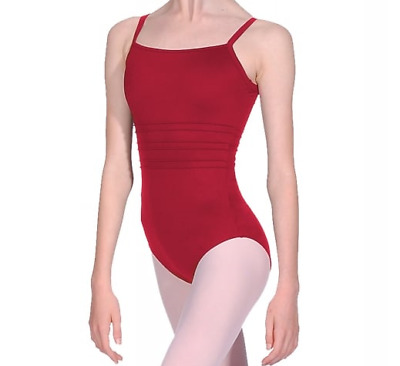 Bloch Dance Girls Camisole Leotard, English Rose, Red, Size Age 8 to 10 years