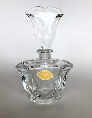 """Vintage West Germany Cut Lead Crystal Perfume Bottle Decanter 6.5"""" Tall Heavy"""