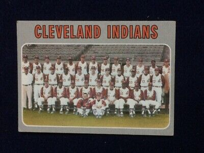 1970 Topps Baseball #637 CLEVELAND INDIANS TEAM