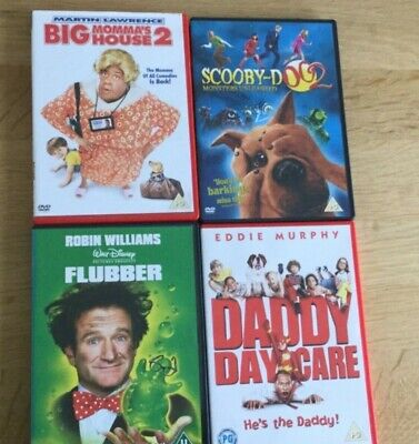 Childrens DVD's - Flubber, ScoobyDoo 2, Big Momma's House 2, Daddy Daycare
