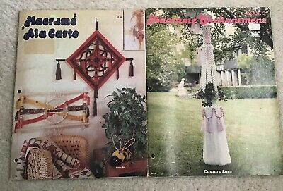 2 Vintage Macreme Books With Instructions