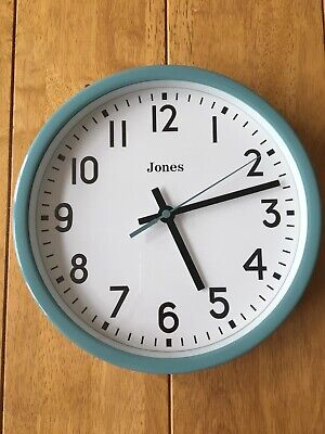 Jones Clock In Turquoise