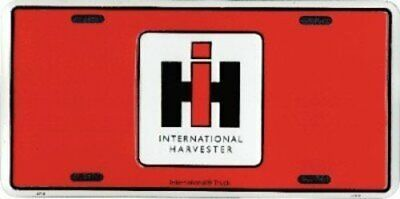 International Harvester License Plate IH 6x12