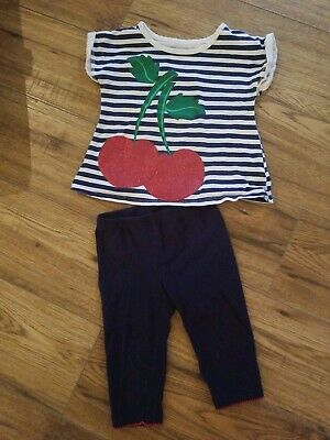 2t Toddler Girls 2 piece Outfit Cherry Health Tex Brand