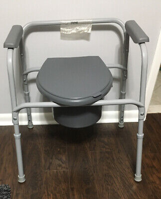Medical Commode Over Toilet Frame or used as  Bedside Toilet removable bucket