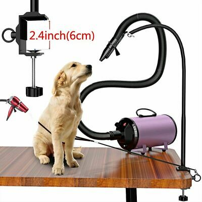 Dryer Stand Pet Hair Grooming Dog Cat Hands Free 180* Drying Portable Holder