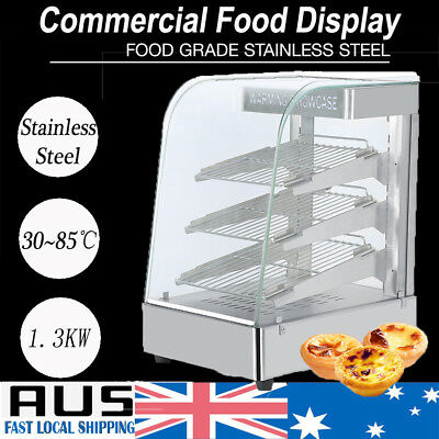 Commercial Food Warmer Cabinet - Pizza Pie Hot Display Showcase Stainless Steel