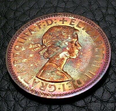 Toned Proof 1970 Great Britain Half Penny | UNC Condition