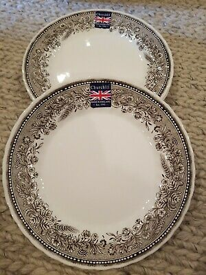 ROYAL WESSEX by Churchill Wheat Fields Border Dinner Plates Dishes Set of 4